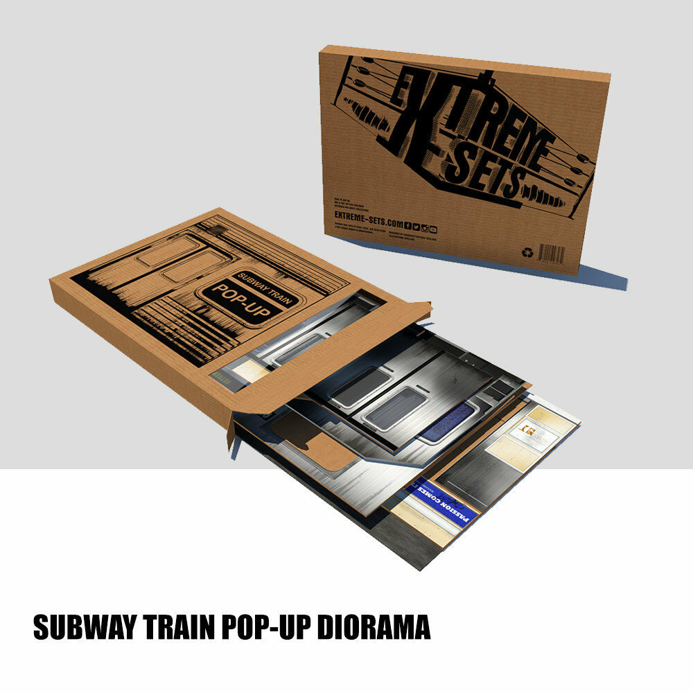 Extreme Sets Subway Train pop up S4 Diorama  for 1 12 scale action figures