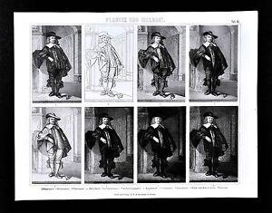 1874-Print-Printmaking-Technique-Comparison-Lithograph-Copper-Etching-Woodcut