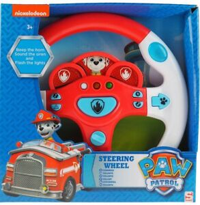 NEW KIDS PAW PATROL STEERING WHEEL INTERACTIVE TOY USE ...