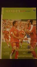 Programme / Programma Macedonia v Scotland 06-09-2008 & Holland 10-09-2008