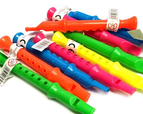 MINI FLUTE WHISTLE TOY RECORDER BOY GIRLS LOOT PINATA BIRTHDAY PARTY BAG FILLERS
