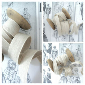 Dutch Linen Tape - Natural Unbleached Ribbon - By the metre