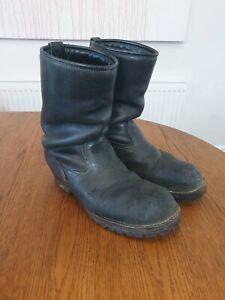 Wesco Engineer/Biker Boss Boots 8/41 Goodyear Welt, Rare, Perfectly Worn in