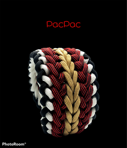 Handmade *USA* Paracord Survival Bracelet The PacPac Ultra Wide W/ Buckle