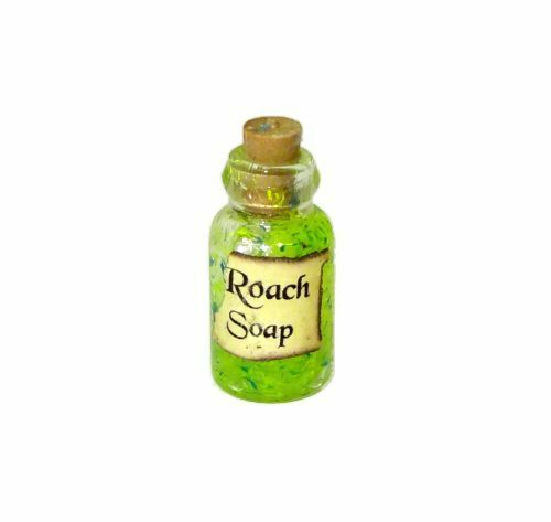 Roach Soap Halloween Witches Brew Magic Potion Bottle Miniatures for Dollhouse