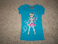 Girls Beautees Of La Blue Short Sleeve Star Girl T/shirt Size 4