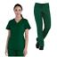 Tru Basic Womens V-Neck Top 10102 /& Half Elastic Drawstring Pant 90102 Scrub Set