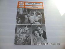 CARTE FICHE CINEMA 1940 ORGUEIL ET PREJUGE Greer Garson Laurence Olivier Boland
