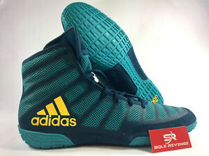 Details about ADIDAS adizero VARNER 2 Wrestling Shoes MMA Boxing Aqua Yellow Blue BA8022 dc1