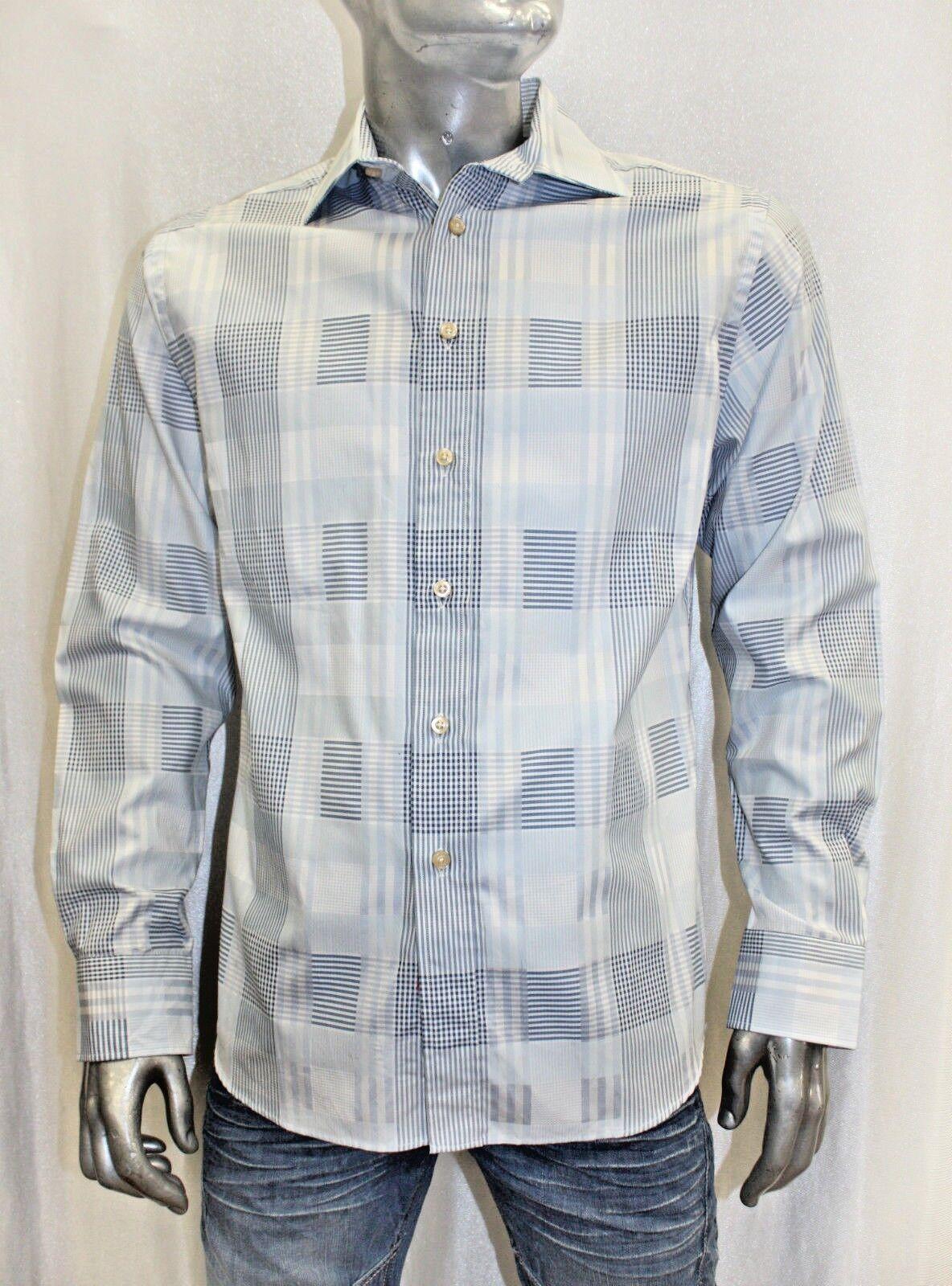 Men's Rufus Plaid Sky bluee   White   Med.bluee Button Down Shirt