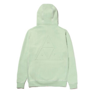 Huf Worldwide Hooded Pullover Hoodie TT Triple Triangle Embossed Mint in M