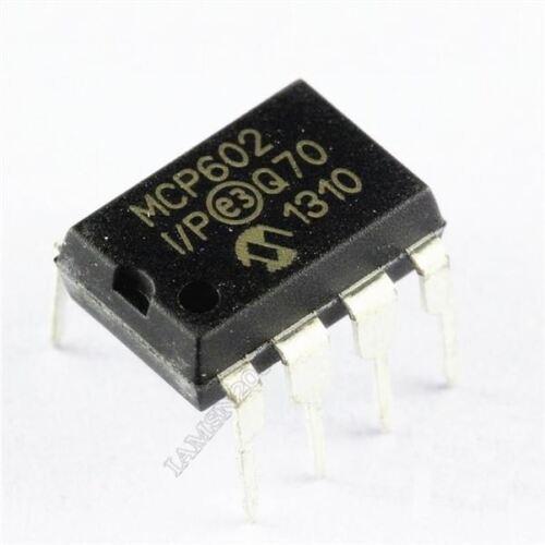 P Opamp Dual Sngl Liefern 8Dip zu 5 Stücke MCP602 MCP602-I