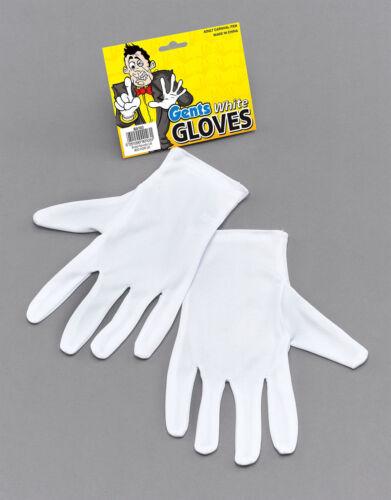 Captain Clown Magician Santa Halloween Fancy Dress Costume White Short Gloves