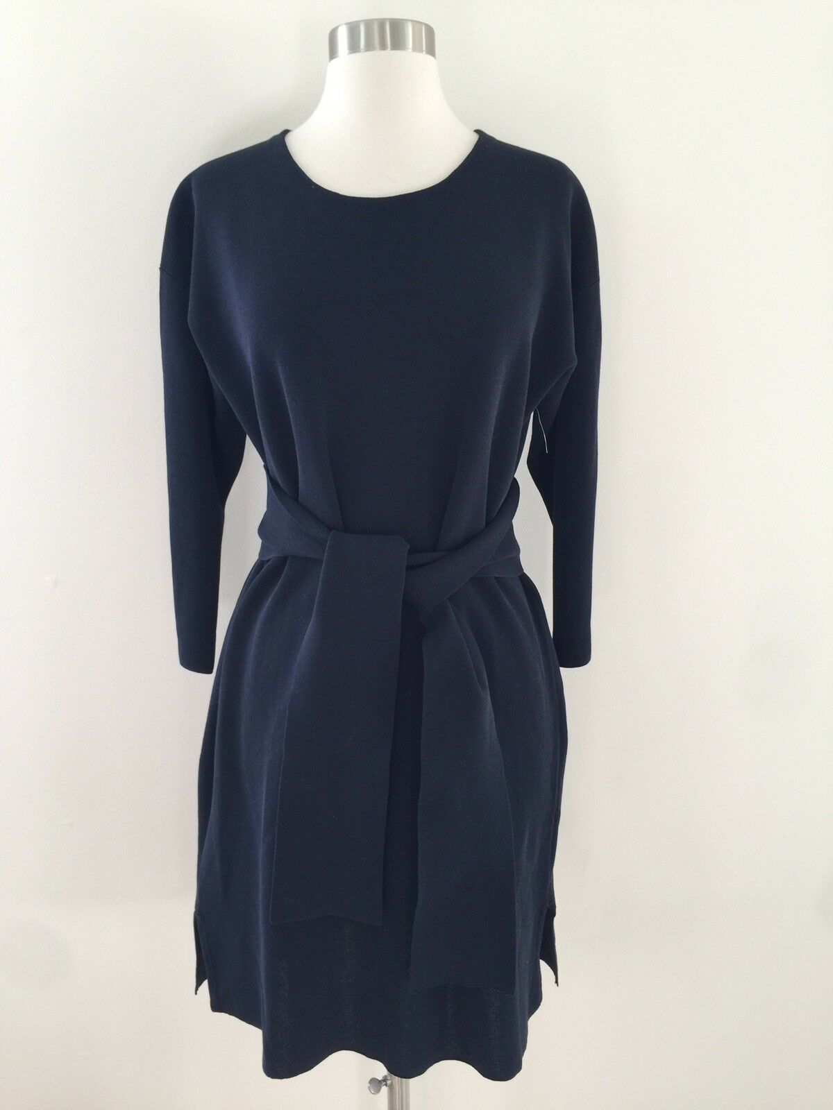 New J.CREW Women's Tie-Waist Cotton Dress Indigo Sea Navy H6940  118 XXL XXLARGE