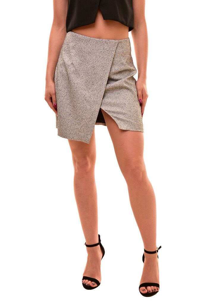 Finders Keepers Women's Mini Sweet Talker Skirt Grey Size S RRP  130 BCF81