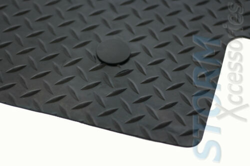 FORD TRANSIT Mk8 2016 on 1-PC Tailored Fit Rubber Floor Mat in BLACK 4 CLIPS