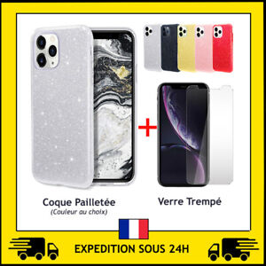 VERRE TREMPE + COQUE PROTECTION ANTICHOC LUXE IPHONE 12 / 12 MINI / 12 PRO MAX