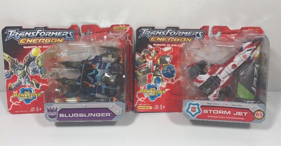 Transformers Energon Lot  Slugslinger and Storm Jet New In Sealed Boxes