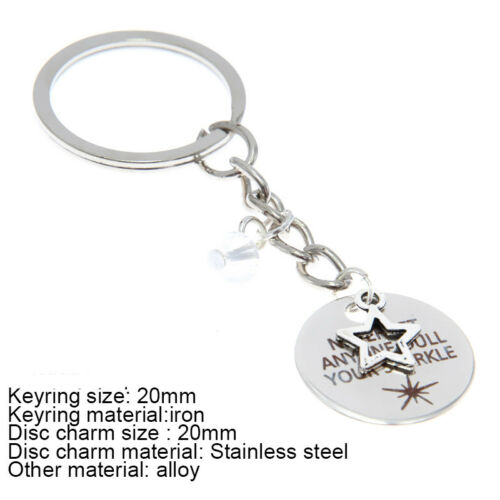 Never let anyone dull your sparkle quote Necklace Bangle Keyring Earring Ankle