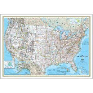 USA Classic Map - Standard Paper