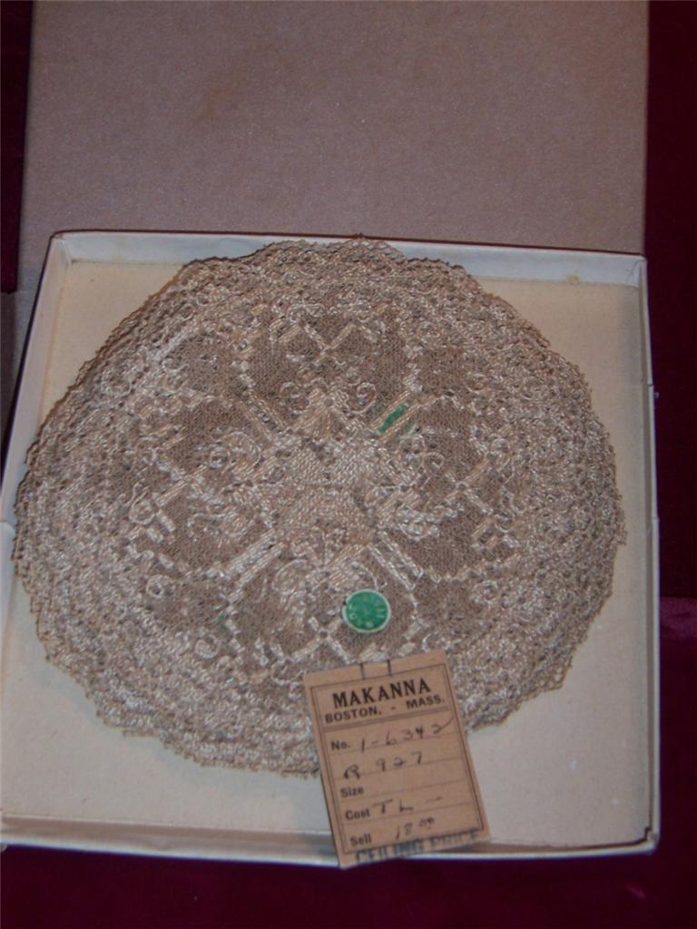 Lace Coaster DOILIES Made in  Lot de 12 vintage neuf avec étiquette