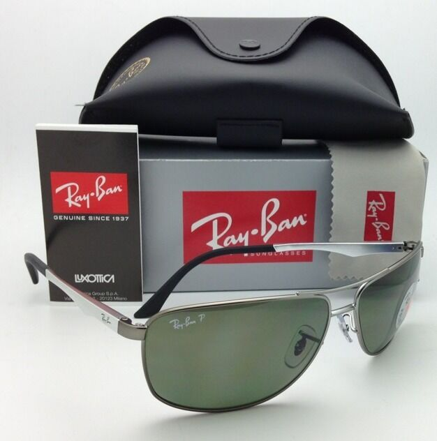 eab2f0d9c0 Polarized Ray-Ban Sunglasses RB 3506 029 9a 64-13 Matte Gunmetal W ...