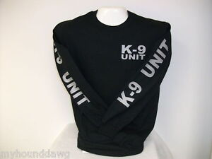 K-9-Unit-Long-Sleeve-T-Shirt-Your-Choice-of-Shirt-and-Print-Colors-K-9-Unit
