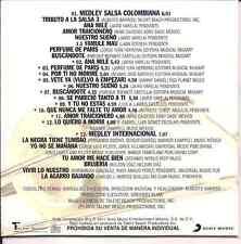 rare cd slip SALSA MEGAMIX Alberto Barros ANA MILE buscandote LA QUIERO A MORIR