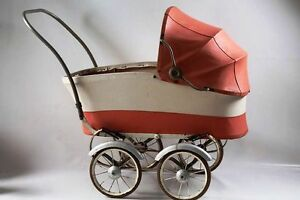 Beautiful-Age-Doll-Pram-Stroller-GDR-Top-Decoration-Toy-Red