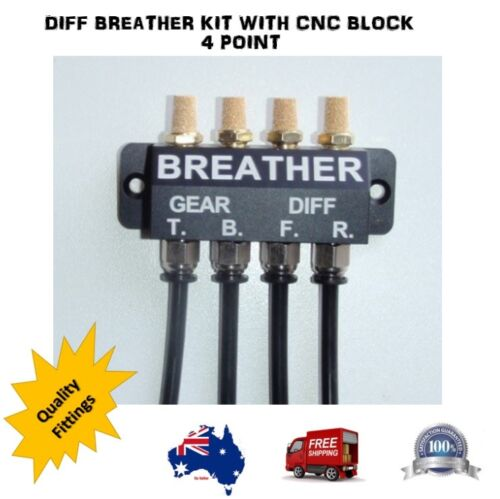 DIFF BREATHER KIT BLACK BLOCK 4 POINT LAND CRUISER D89