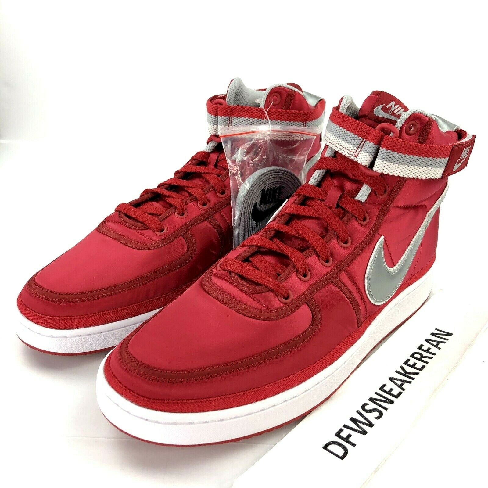 Nike Vandal High Supreme Men's 14 University Red Silver shoes AH8652-600 NEW