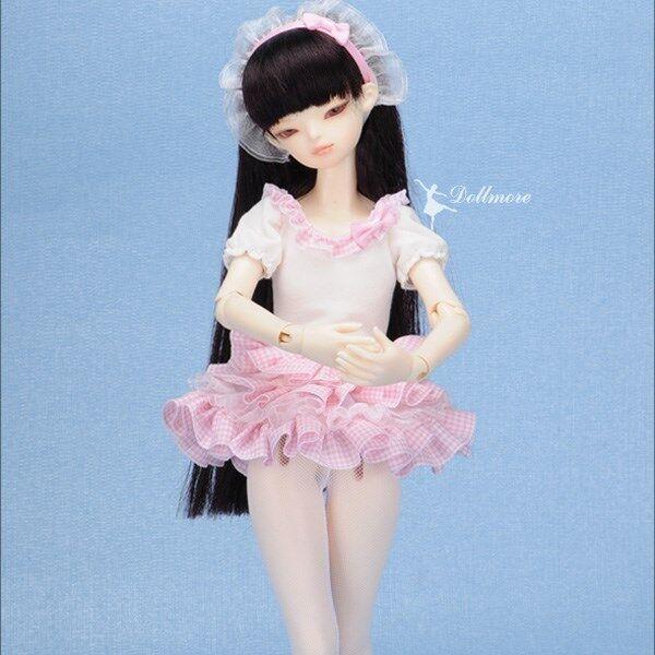 Dollmore 1//4 BJD  MSD SIZE A6 Phnia Dress Black