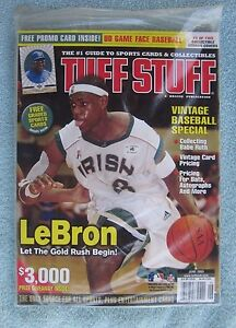 Details About Lebron James June 2003 Tuff Stuff Price Guide Magazine Factory Sealed Mint