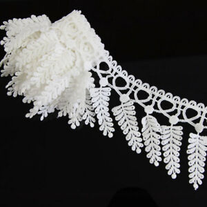 2-Yards-Off-White-Lace-Polyester-Applique-Sewing-Trim-DIY-Crafts-Trimming