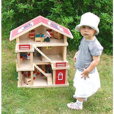 Riesengroßes Puppenhaus  54x37x69cm Möbel Puppen