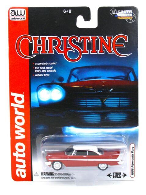 1958 Plymouth Fury Christine red Chrome versión Movie car 1:64 auto World cp7494