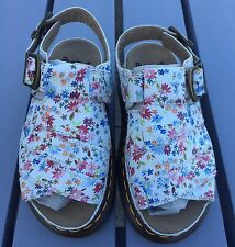 Ladies Dr Martens 8330 White Floral Leather Chunky Sandals Size 3/36 Brand New
