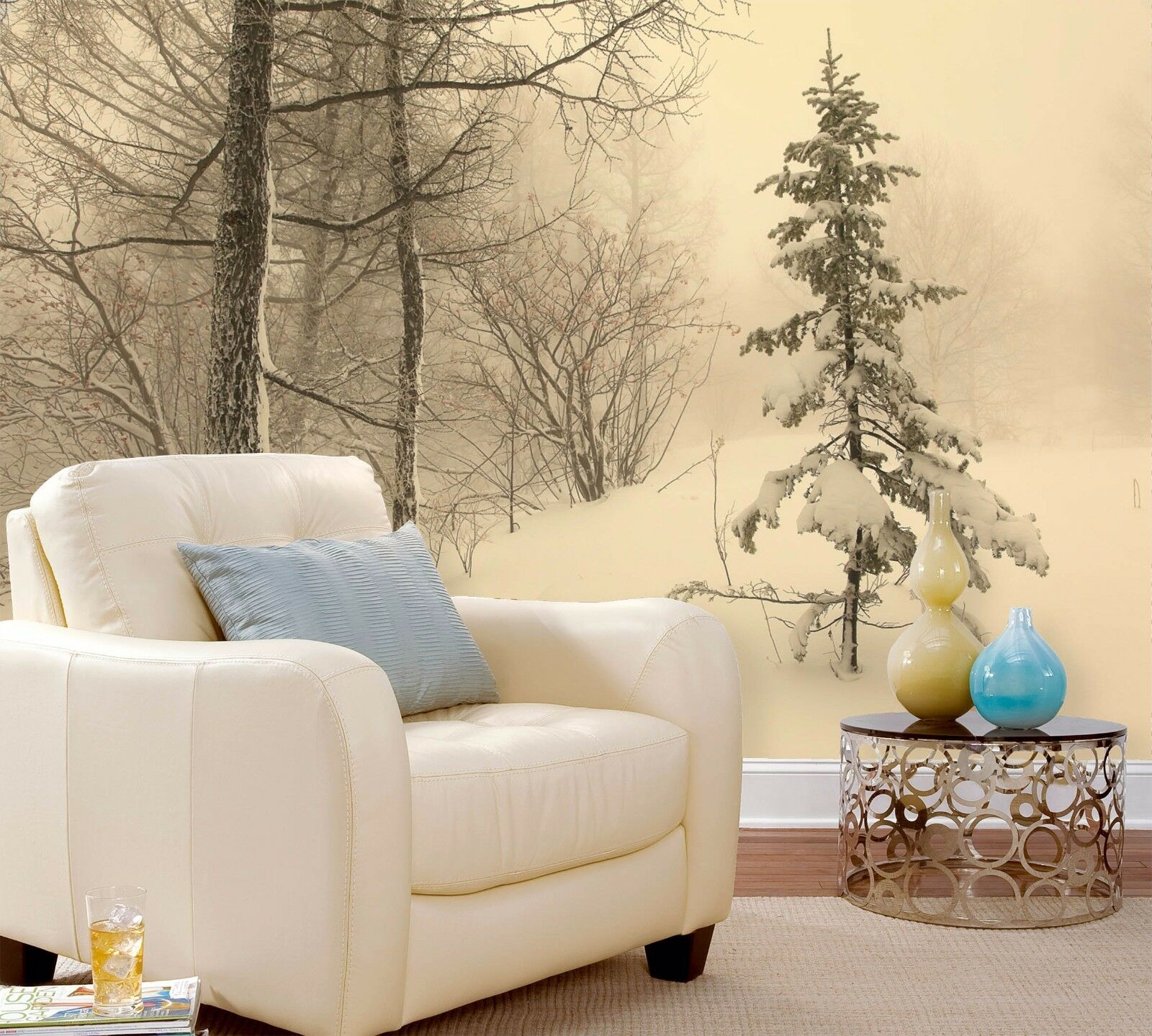 3D Snow-covered Trees 142 Paper Wall Print Wall Decal Wall Deco Indoor Murals