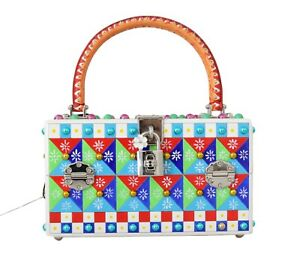 b37db2698326 NEW  9000 DOLCE   GABBANA Bag Purse BOX Sicily Wood Leather ...