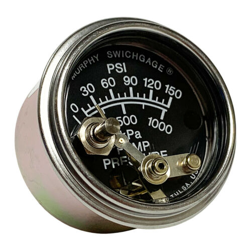 "05703154 Murphy 20PW7-150 Part No 2/"" Water Pressure Swichgage w//Lockout"