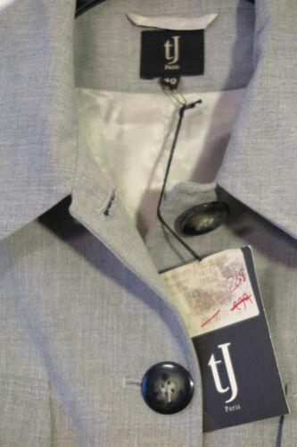 Paris costume surdimensionnée de Taille Jarron en Veste Tw Paris 40 mélangée chiné gris laine wxIPfZZqX