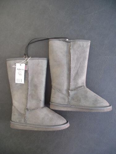 BNWT Little Boys Sz 7 Rivers Doghouse Brand Long Warm Smart Grey Slipper Boots