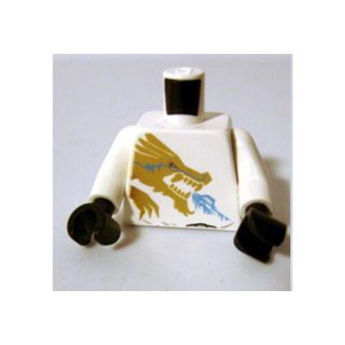 Gold Lion and /'ZANE/' on Back Torso Ninjago Gold Dragon Front Minifig LEGO