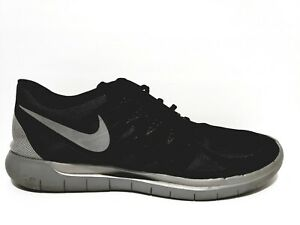 quality design 62b11 7a3b5 Details about Nike Free Run 5.0 Mens Size 14 Running Shoes Reflective  Silver Black 685168 001