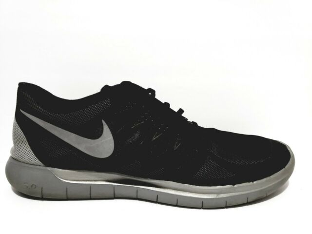 new style 6fa3c adfce Nike Free Run 5.0 Mens Size 14 Running Shoes Reflective Silver Black 685168  001