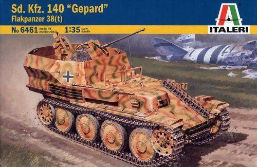 Italeri 6461. Model tank shielded Sd-Kfz-140 Gepard. Scale 1 35