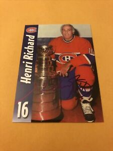 Henri Richard Signed Montreal Canadiens Card