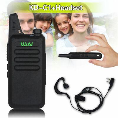 2019 Neuer Stil Wln Kd-c1 Uhf 400-470 Mhz Handfunkgerät Zwei-wege-ham Radio 16ch + Kopfhörer