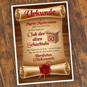 Geburtstagsurkunde-30-40-50-60-Club-der-alten-Schachteln-Bild-Geschenk-NEU