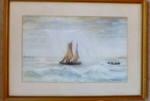 origin-nautical-watercolour-painting-of-Kent-Fishing-off-Deal-signed-J-Barker